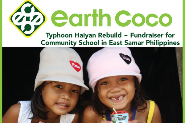 Earth Coco Fundraiser for Community School in East Samar Philippines